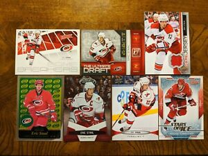 Eric-Staal-Game-Jersey-Parallel-Insert-amp-Base-Lot-7-Carolina-Hurricanes