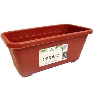30cm-Interieur-Exterieur-Jardin-Plastique-Plante-Profond-Pot-Graine-Jeune-Fleurs