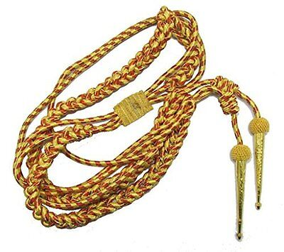 Aiguillette Army Military Aiguillette Gold Red with gold tags R158