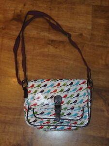 Satchel Cross Chrismas tela New James Nicky Body Trims Bag Birds cerata Telo di W41Zx