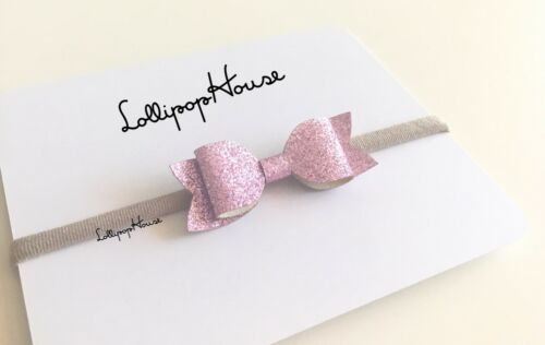 Glitter Sparkle Baby Headband Hair Accessories Girls Soft Nylon Headbands Bows