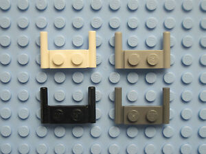 LEGO 3839 plate 1x2 with handles quantity of 20 black