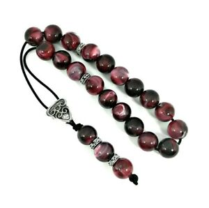 Greek-komboloi-worry-beads-with-red-marble-colored-beads-and-silver-details
