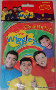 The WIGGLES Party Supplies INVITATIONS Birthday Decoration Treats x8