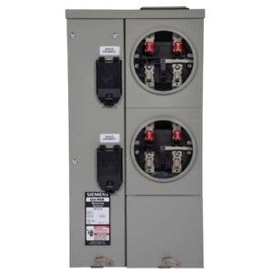 main breaker meter socket 125 amp 1 phase uni pak 2 gang tenant Meter Socket Wiring Diagram image is loading main breaker meter socket 125 amp 1 phase