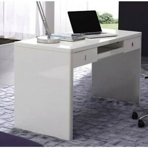 Awesome Details About Aquila Mxt2 08 Gloss White Home Office Desk Computer Desk With Drawers Download Free Architecture Designs Intelgarnamadebymaigaardcom