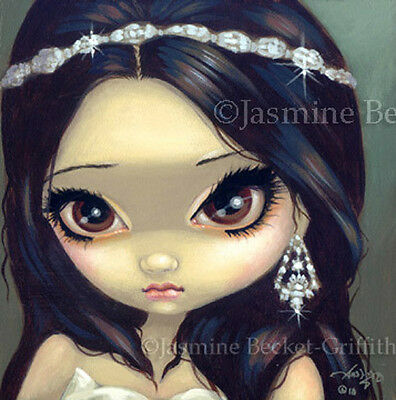 Fairy Face 75 Jasmine Becket-Griffith Fantasy Bride Princess SIGNED 6x6 PRINT