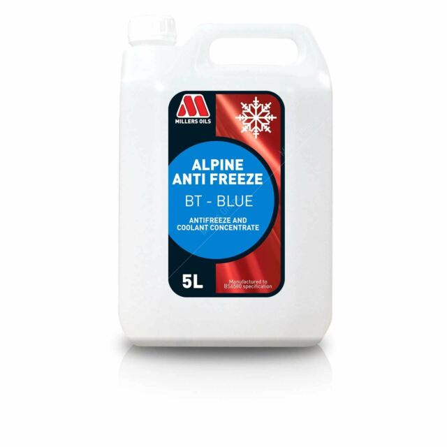 Millers Alpine Antifreeze BT Blue Concentrate 5 Litres 5L
