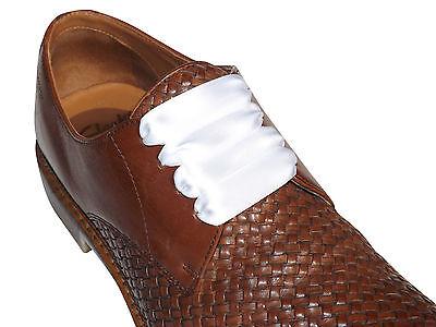 Zapatos de Vestir nuevo Negro Satinado Cordones con puntas de color para para Hombre Zapatos Formales