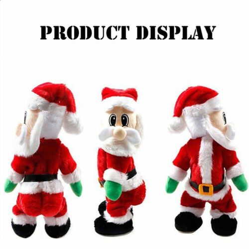 Christmas Electric Twerking Santa Claus Toy Music Dancing Doll Holiday Gifts