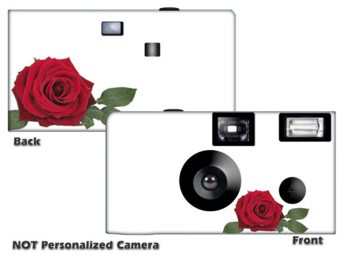 5 Red Rose Disposable Cameras Fun Cameras, Fuji film