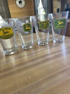 Vintage - Set Of 4 - John Deere Drinking Glasses - Different Designs