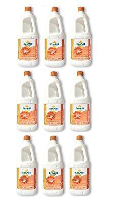 Disgregante Sanity 2 Litri Arancia Wc Aque Nere Camper Aqua Kem - 9 Bottiglie -