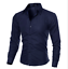 Blouse-Men-039-s-Slim-Fit-Shirt-Long-Sleeve-Formal-Dress-Shirts-Casual-Shirts-Tops thumbnail 2