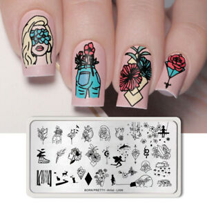 BORN-PRETTY-Nail-Stamping-Plates-Stainless-Steel-Nails-Stamp-Stencil-Artist-L006