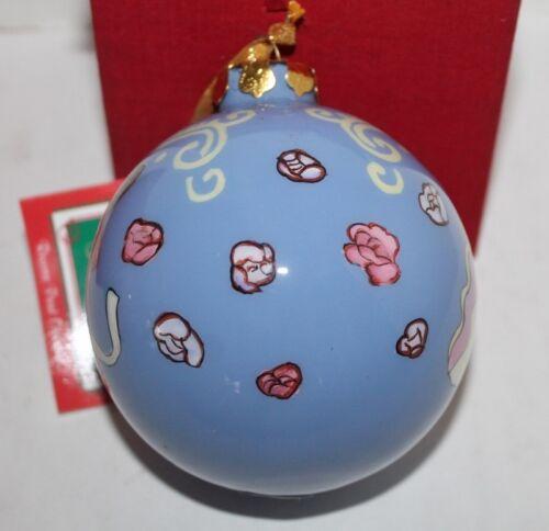 "NIB Choice 3 1//2/"" Angels Papel Giftware Reverse Paint Ornament"