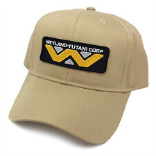 ALIENS Movie Weyland Yutani Corporation Patch Khaki Snapback Cap Hat Caps Hats