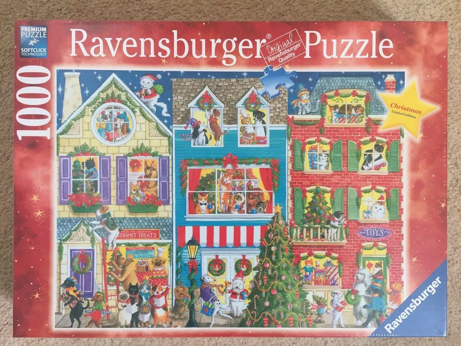 Ravensburger Christmas On Pet Street 1000 Piece Jigsaw, Very Rare, New
