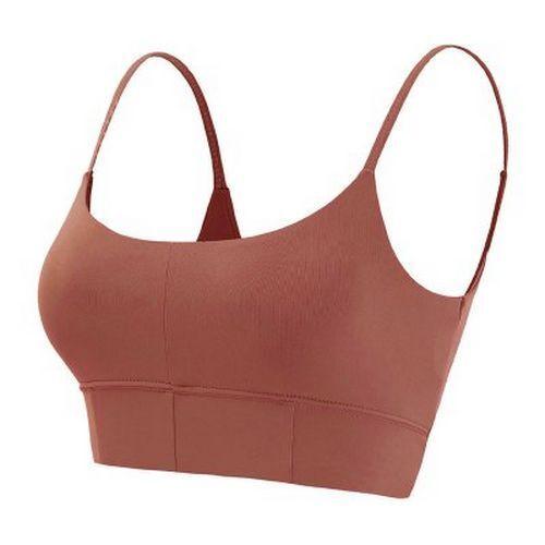 Sports Bra Thin Strap Open Back Women Gym Fitness Medium Impact Ballet Crop Top