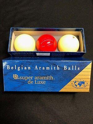 Aramith 61.5mm Super Tournament Belgian Carom Ball Set