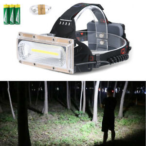30W-LED-COB-USB-Rechargeable-18650-Headlamp-Headlight-Fishing-Torch-Flashlight-D