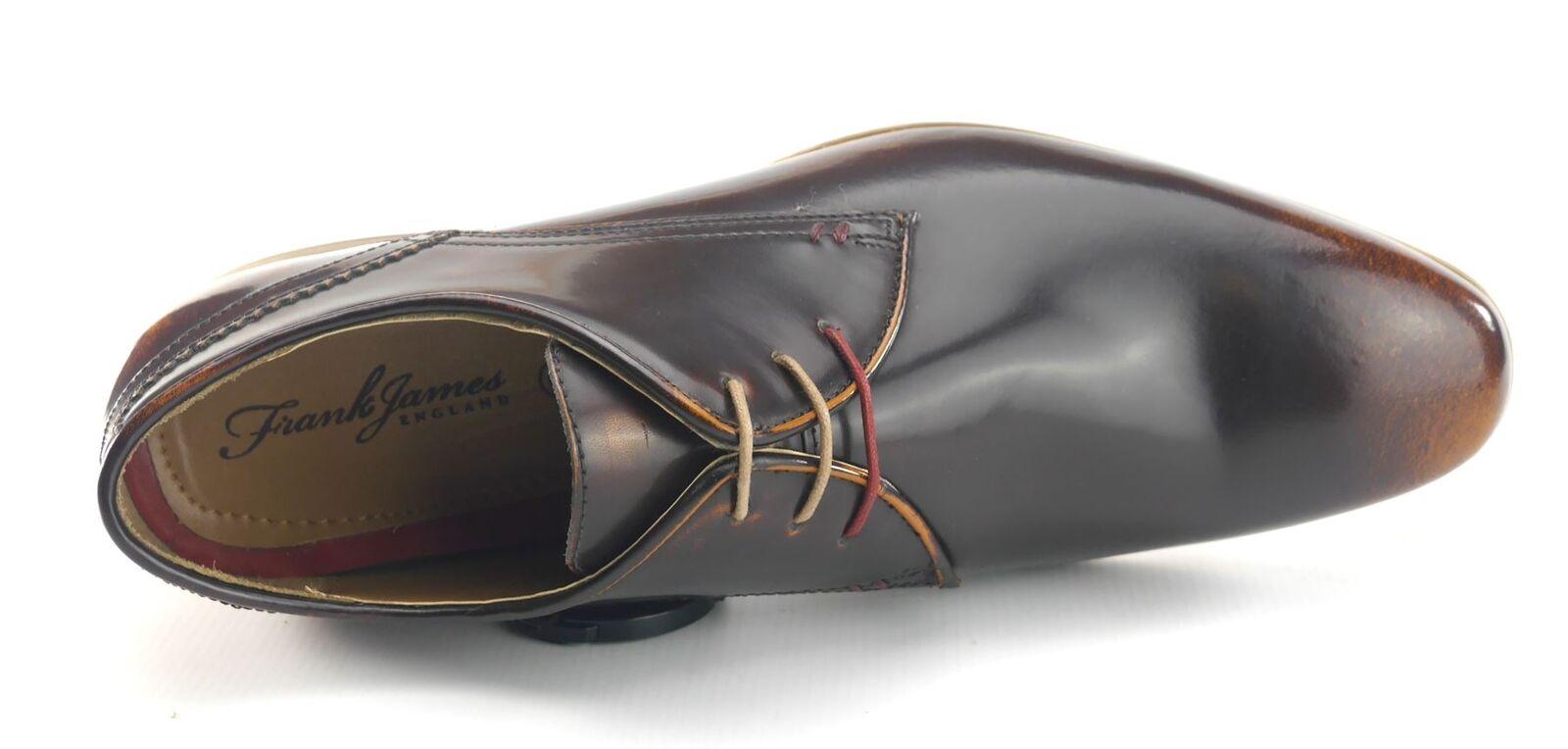 Frank James Shoreditch spitz Schuhe Herren Schnürschuhe Oxford Hochglanz Schuhe spitz braun 040401