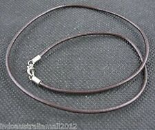 Brown Real Leather Necklace String cord with Connects 45cm 1.5mm Dia (NFS002)