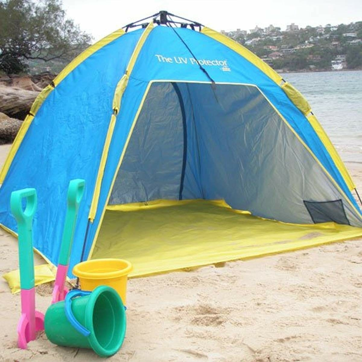 Outdoor Sun Shelter bluee UV Predector Beach Tent Camping Hiking Sport Accessory