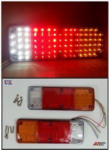 2X-12V-89-LED-TRAILER-TRUCK-BUS-VAN-STOP-REAR-TAIL-INDICATOR-LIGHTS-REVERSE-LAMP