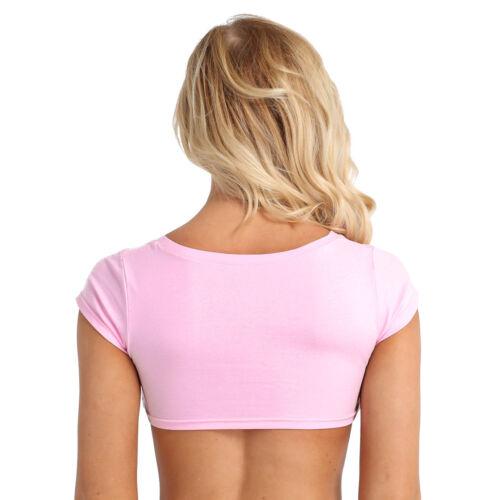 Summer Letter Print Women/'s Short Sleeve T-Shirt Casual Crop Tops Tee Blouse