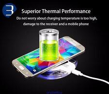 Cargador Qi Inalambrico Claro Para Smartphones Samsung Galaxy S6 S7 Edge Plus