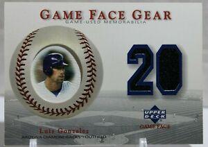 2003 Upper Deck Luis Gonzalez Game Used Jersey Patch Diamondbacks GG-LG