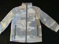 Boys Old Navy Windbreaker Jacket Size 4 5 Hooded Camo Water Resistant