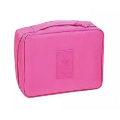 Travel Makeup Cosmetic Toiletry Case Bag Waterproof Organizer Storage Pouch ROSE