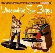 10 inch – 25 CM - Vince and the Sun Boppers - Spinnin' Around - ROCKABILLY NEW