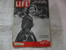 Life Magazine January 26th 1953 Stylist For Ohrbach's Published By Time    mg475