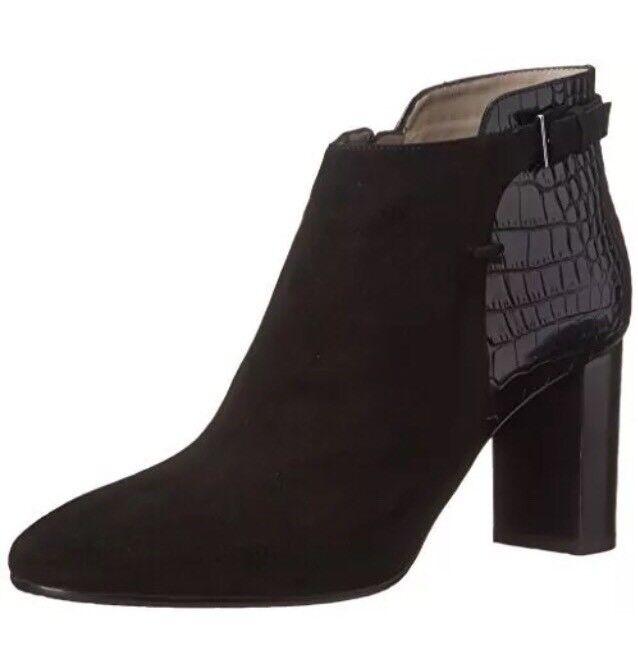 Aquatalia By Marvin K. Vela Leather Suede Ankle Boots Black Women Sz 10 5931 *