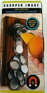 Sharper Image Cap Catching Magnetic Bottle Opener Man Cave Beer