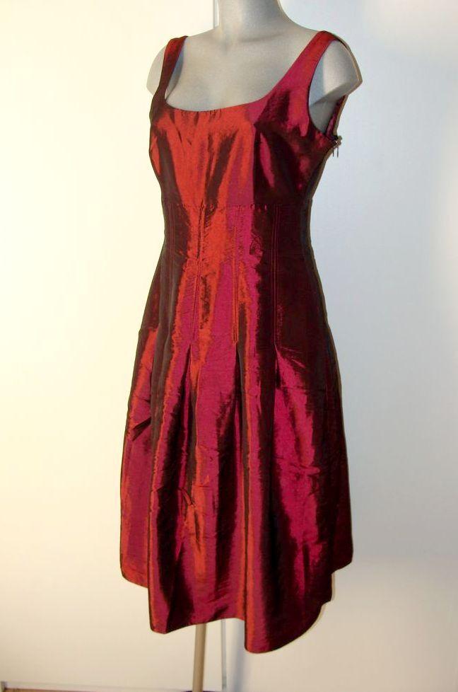Kleid von Steilmann schimmernder Satin Glanz Rot Gr 40 40 40 IV 1 3832c2