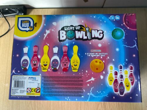 Light Up Balls Bowling Toy Outdoor Indoor Party Game Children Kids