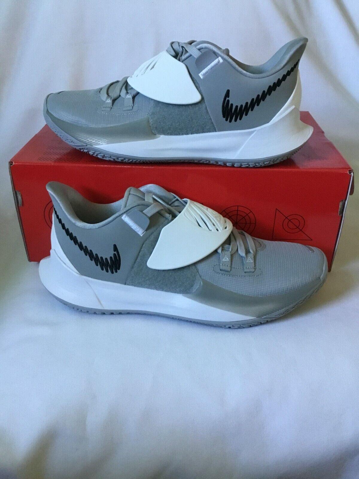 Kyrie Low 3 TB Promo Basketball Shoes SZ - 12 Wolf Grey Black White-CW4147 003