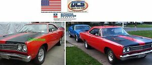 1969-Plymouth-Road-Runner-White-Reflective-Sport-Stripe-V6W-Kit-NEW-MoPar