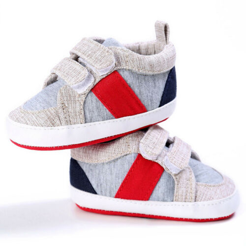 Unisex Crib Shoes Boys Girls Cotton Soft Sole Sports Sneakers Gifts for Toddlers