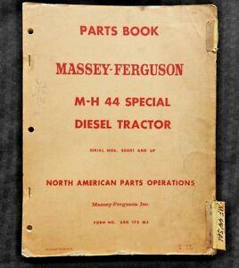 1952-61-Massey-Harris-M-H-44-Especial-Diesel-Tractor-Parts-Catalog-Manual-Buen-1