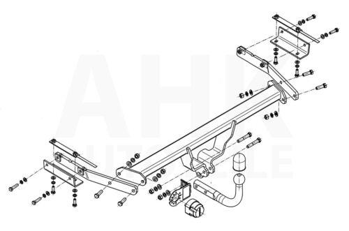 Anhängerkupplung starr+ES 7p ABE Für Nissan Juke 2WD