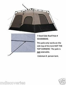 Coleman instant tent 8 person used Tent Parts Steel Roof ...