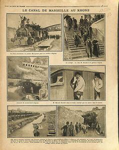 Canal-de-Marseille-au-Rhone-Marcel-Sembat-amp-General-Coquet-Tunnel-Voie-1916-WWI