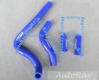 Silicone Radiator Hose Kit For Kawasaki Kx250 2004-2007 05 06 07 Blue