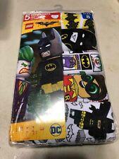 Boys Size 8 Lego Batman Cotton Briefs Underwear 5 Pack NEW
