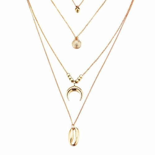 Multilayers Crystal Pendant Necklace Clavicle Choker Collar Chain Women Jewelry
